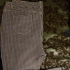 Denim - Checkered pattern jeans